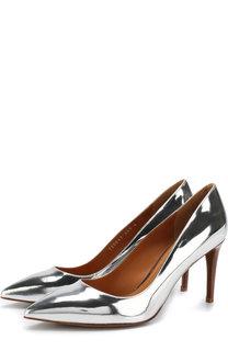 Туфли из металлизированной кожи на шпильке Ralph Lauren