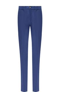 Однотонные джинсы прямого кроя со стрелками Escada