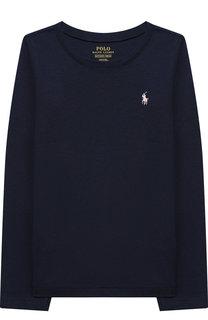 Однотонный лонгслив с логотипом бренда Polo Ralph Lauren
