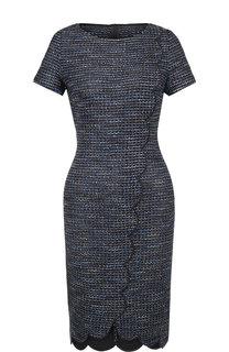 Вязаное мини-платье с контрастной отделкой St. John