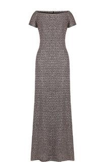 Вязаное платье-макси с открытыми плечами St. John