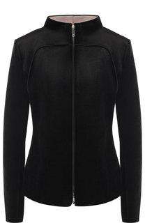 Бархатная куртка на молнии с воротником-стойкой Giorgio Armani