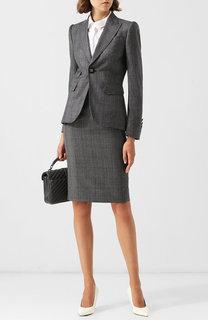 Шерстяной костюм с юбкой-карандаш Dsquared2