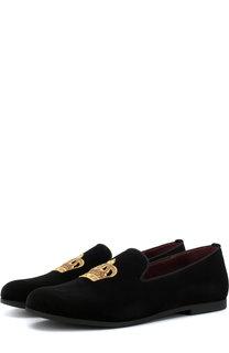 Текстильные слиперы с вышивкой Dolce & Gabbana
