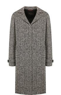Пальто на пуговицах из смеси кашемира и шерсти Loro Piana