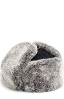 Кашемировая шапка-ушанка с меховой отделкой Ermenegildo Zegna