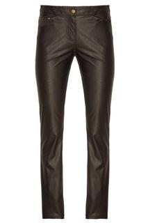 Черные брюки из эко-кожи Laroom