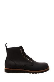 Черные ботинки на плоской подошве Affex