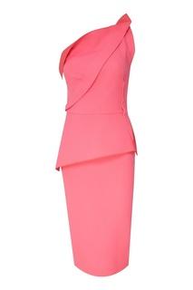 Асимметричное розовое платье Roland Mouret
