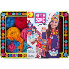 Набор для творчества Alex для вязания крючком Модные вещи из вязаных квадратов, от 7 лет Alex®