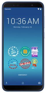 "Смартфон Asus ZenFone Max Pro M1 ZB602KL 128Gb синий 3G 4G 2Sim 6"" 1080x2160 And8.1 13Mpix 802.11bgn"