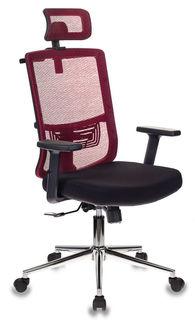Кресло руководителя БЮРОКРАТ MC-612-H, на колесиках, сетка/ткань [mc-612-h/r/26-b01]