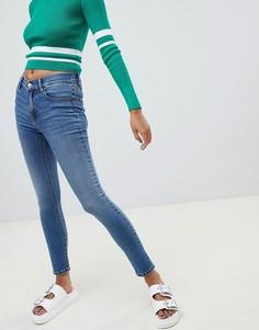 Голубые супероблегающие джинсы Pull&Вear - Синий Pull&;Bear