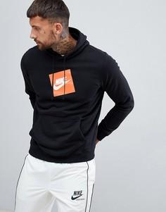 Худи черного цвета с логотипом Nike 928719-010 - Черный
