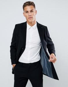 Черное пальто Burton Menswear - Черный