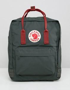 Зеленый рюкзак объемом 16 литров с контрастной отделкой Fjallraven Kanken - Зеленый