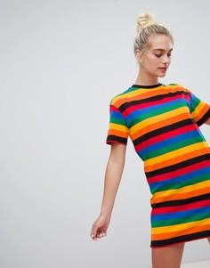 Платье-футболка с короткими рукавами Daisy Street - Мульти