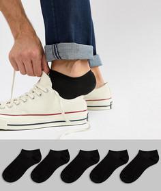 Черные низкие носки ASOS 5 - Черный