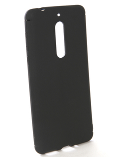 Аксессуар Чехол-накладка для Nokia 5 Gecko Silicone Black S-GESKA-NOK5-BL