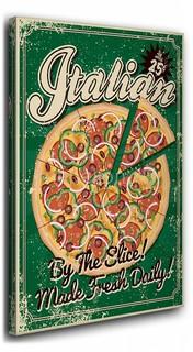 Панно (40х50 см) Пицца ретро 1138912 Ekoramka