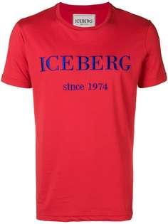 футболка с вышитым логотипом Iceberg