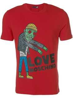 футболка с графическим принтом с логотипом Love Moschino