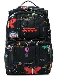 стеганый рюкзак с принтом Valentino