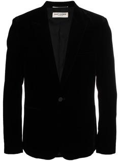 бархатный пиджак-смокинг Saint Laurent