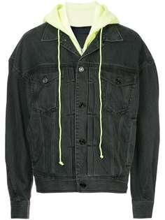 джинсовая куртка с капюшоном с многослойным эффектом Juun.J