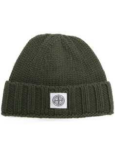 шапка-бини с заплаткой с логотипом Stone Island