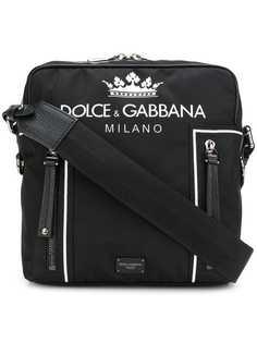 сумка через плечо с принтом логотипа Dolce & Gabbana