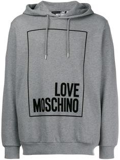 толстовка с капюшоном и логотипом Love Moschino
