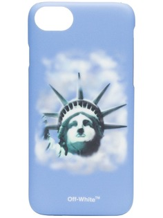 blue Liberty print iPhone 8 case Off-White
