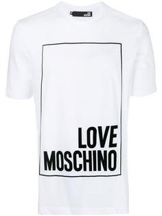 large logo patch T-shirt Love Moschino