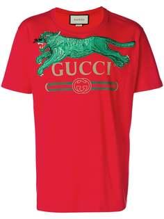 футболка с логотипом Gucci
