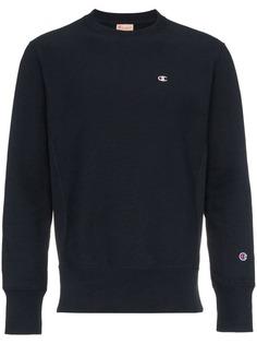 blue reverse weave terry cotton sweatshirt Champion