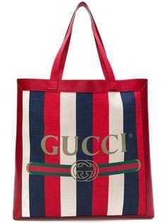 сумка-тоут с принтом Gucci