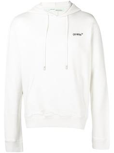 толстовка с капюшоном и контрастным логотипом Off-White