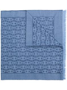 шарф с узором двойной детали Gancini Salvatore Ferragamo