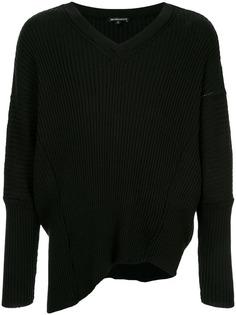 асимметричный свитер с V-образным вырезом Ann Demeulemeester