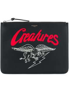 клатч 'Creatures' на молнии Givenchy