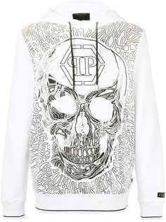 skull embroidered hoody Philipp Plein