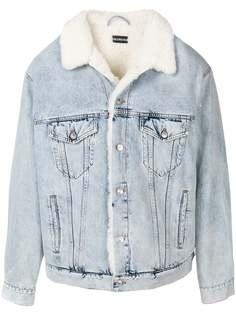 джинсовая куртка с подкладкой из овечьего меха Balenciaga