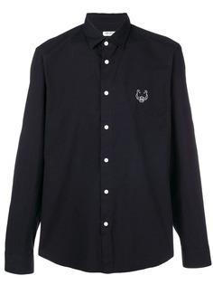 рубашка с длинными рукавами и вышитым тигром Kenzo
