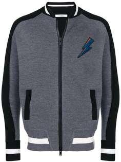 куртка с контрастными рукавами и полосатой отделкой Givenchy