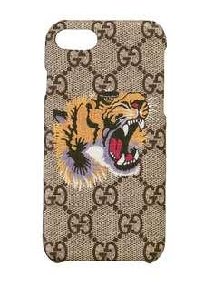 чехол для iPhone 8 с принтом тигра Gucci