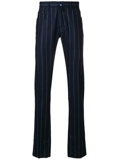 джинсы прямого кроя в полоску Jacob Cohen
