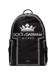 рюкзак с принтом логотипа Dolce & Gabbana
