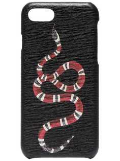 Black Snake Print iPhone 8 Case Gucci