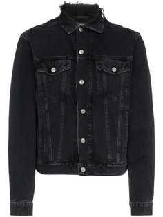 джинсовая куртка с логотипом и эффектом потертости Balenciaga